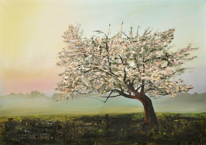 Baum blüht, Gemälde